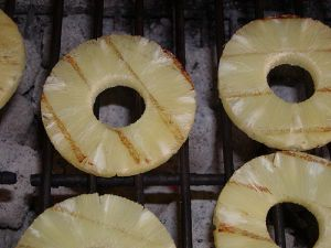 grilling pineapple